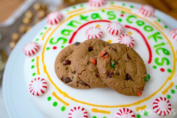 Santa's cookie plate cake