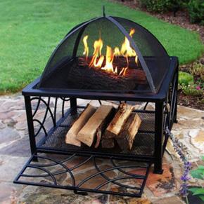 Fireplace with storage