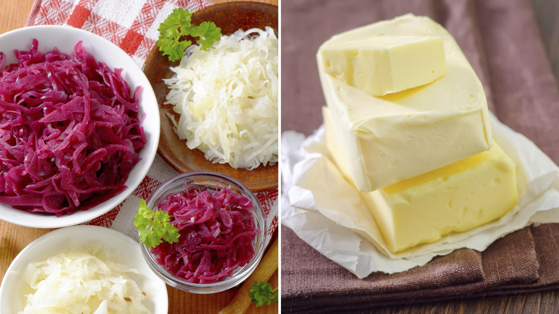sauerkraut and butter