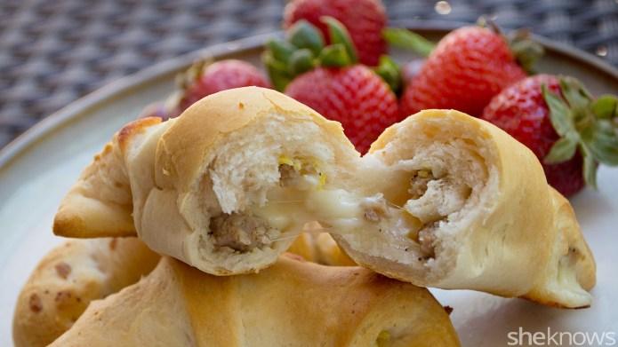 Stuffed breakfast croissants make an easy