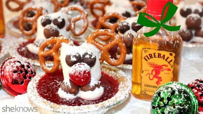 Rudolph Jell-O shots will definitely lead