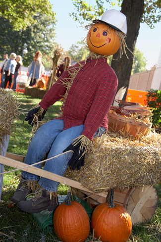 Scarecrow at fall party