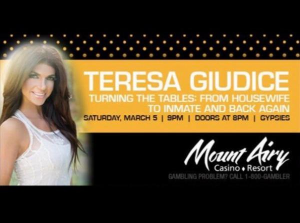 Teresa Giudice casino appearance