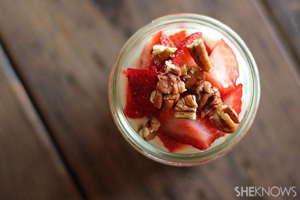 Homemade yogurt with healthy mix-ins