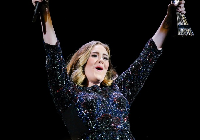 Adele winning award