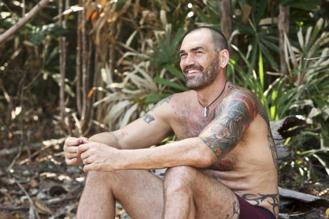 Scot Pollard at Brawn camp on Survivor: Kaoh Rong