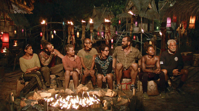 Final eight castaways at Tribal Council on Survivor: Kaoh Rong