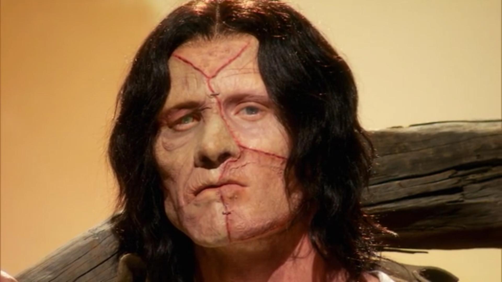 A close look at Scott Fensterer's finished makeup