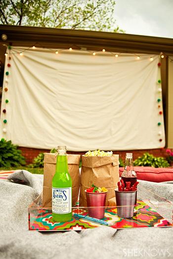 Porch movie screen