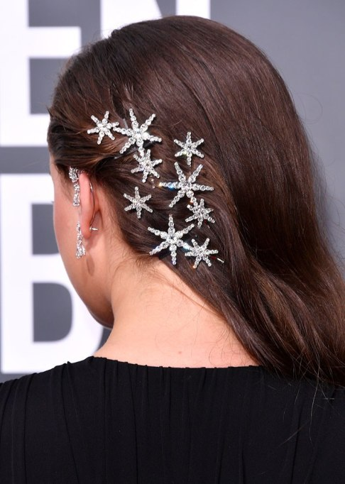 Katherine Langford Star Pins Hairstyle