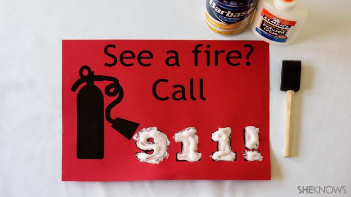 Fire safety crafts for kids