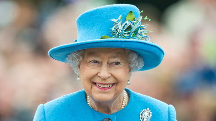 Queen Elizabeth Just Helicoptered Over to
