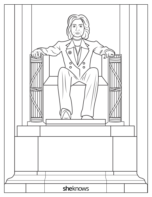 Hillary Clinton as the Lincoln Memorial (and Frank Underwood)