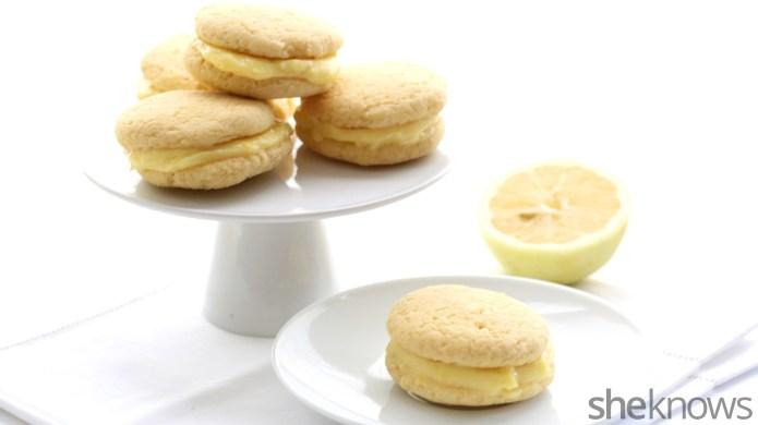 Healthy lemon curd whoopie pies are