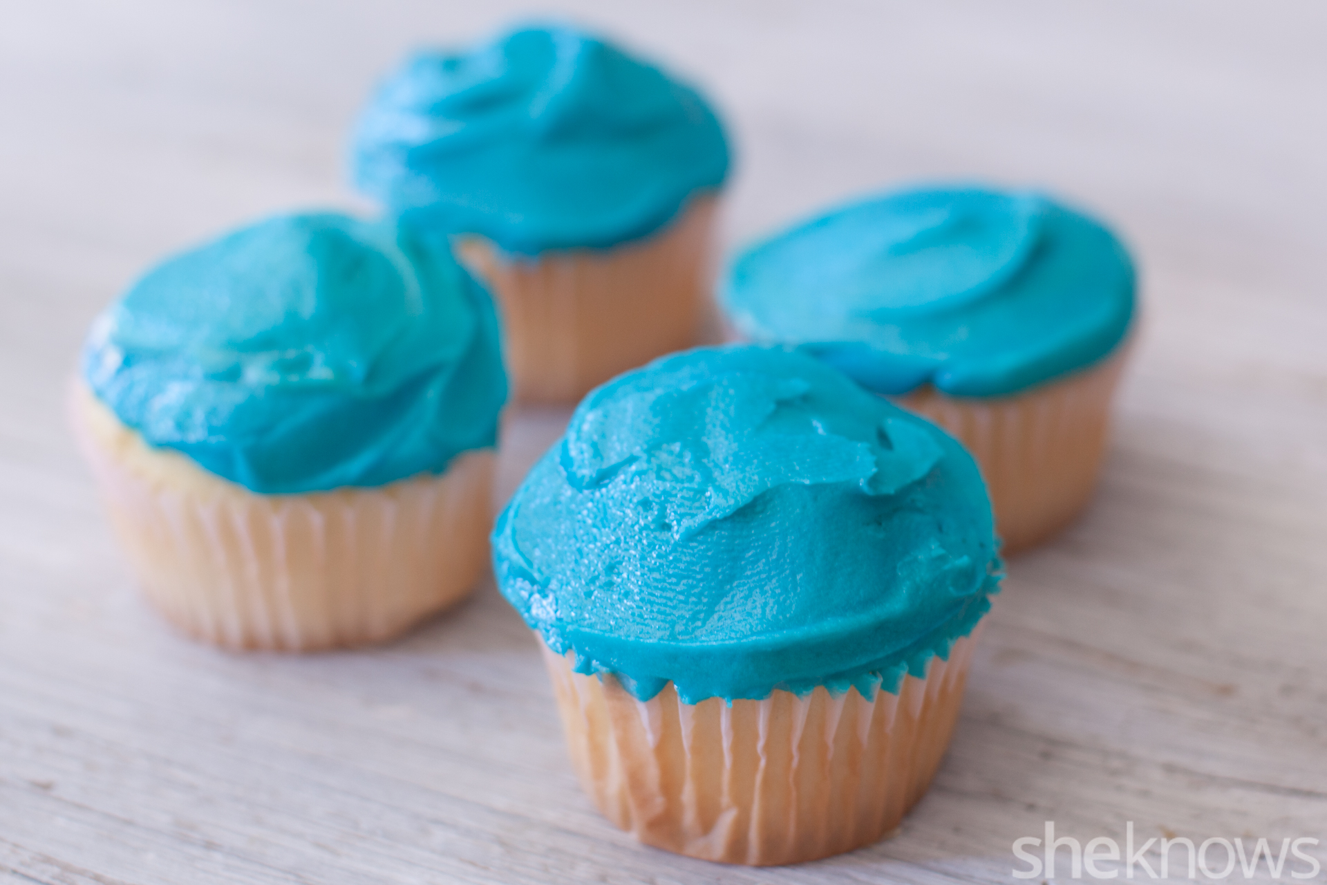 sea creature cupcakes frosting