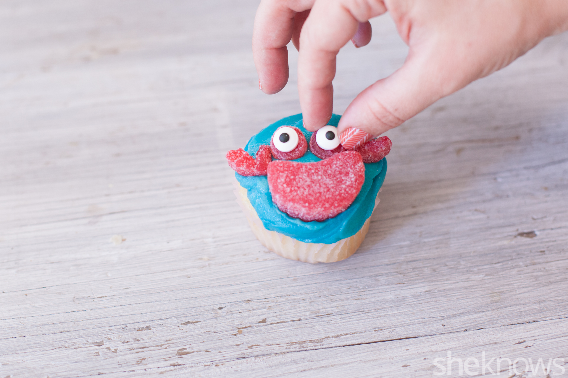 sea creature cupcakes crab