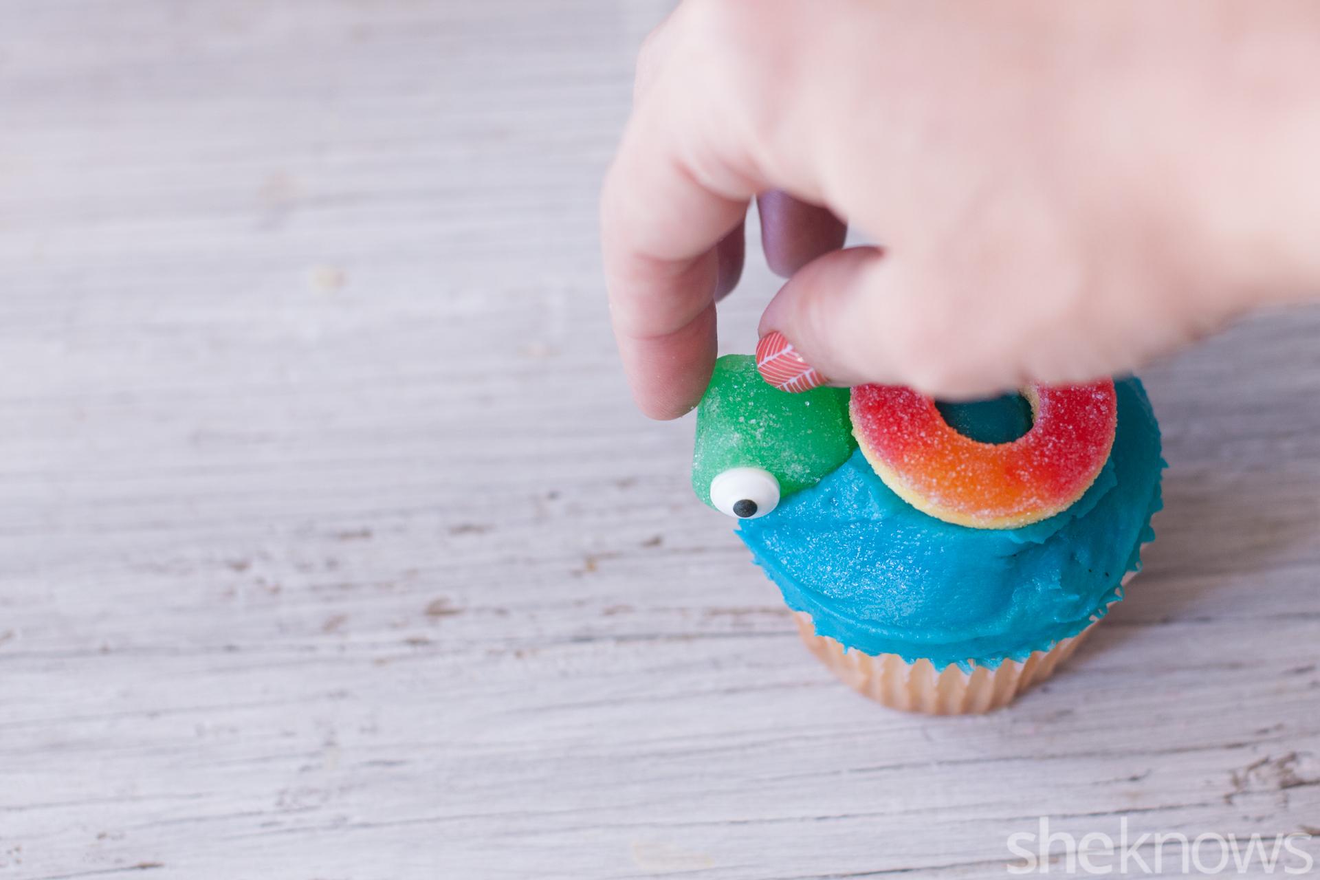 sea creature cupcakes turtle