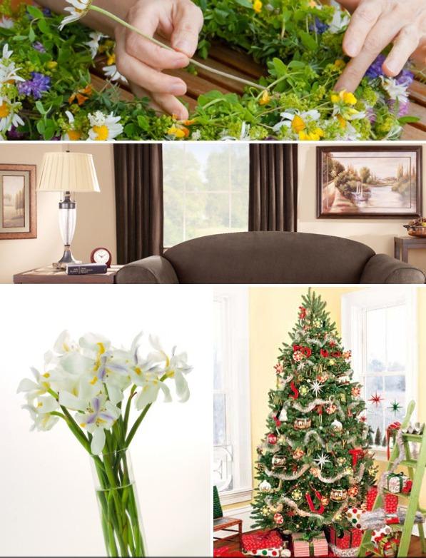 seasonal decor collage