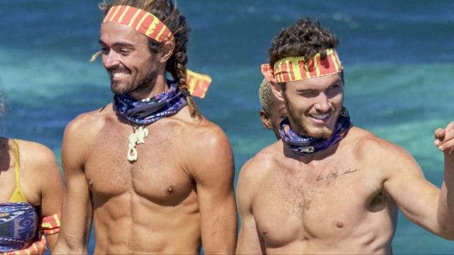 Sebastian Noel with Michael Yerger on Survivor: Ghost Island