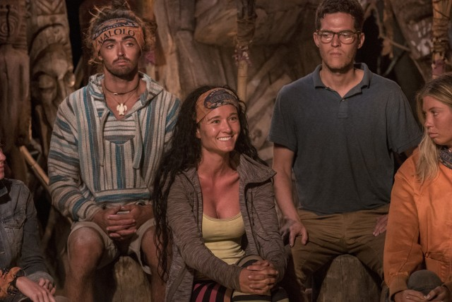 Stephanie Johnson and Bradley Kleihege on Survivor: Ghost Island