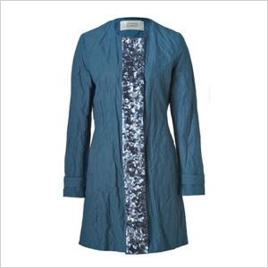 Crinkle cotton coat
