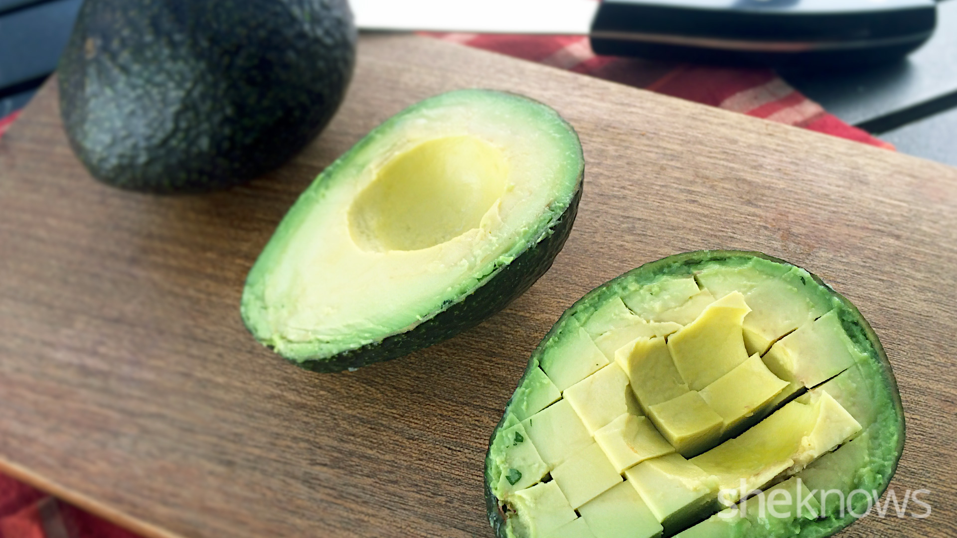 cutting avocados
