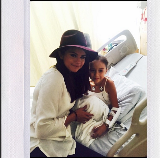 Selena Gomez shares picture with sick child