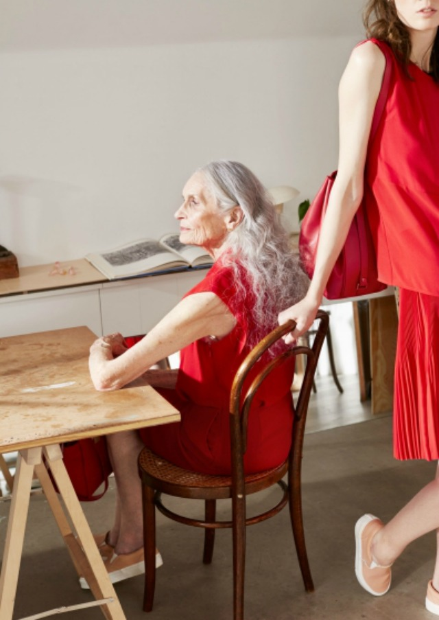 Daphne Selfe modelling for & Other Stories