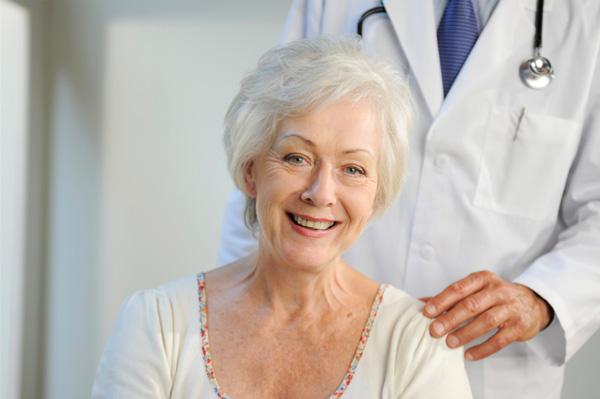 Senior woman at doctor