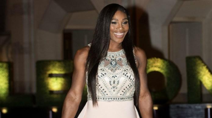Serena Williams sparkles at Wimbledon Champions'