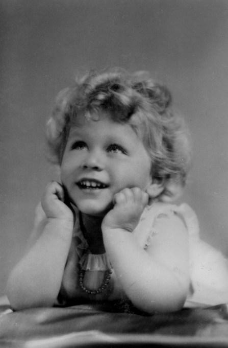 Queen Elizabeth II baby portrait
