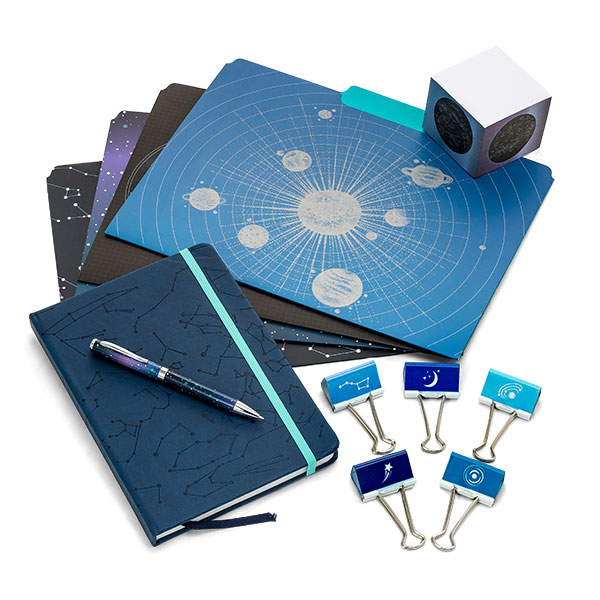 Outer space stationery set