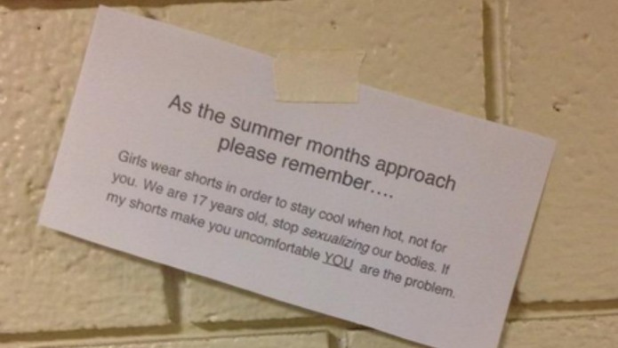 Note posted around high school perfectly
