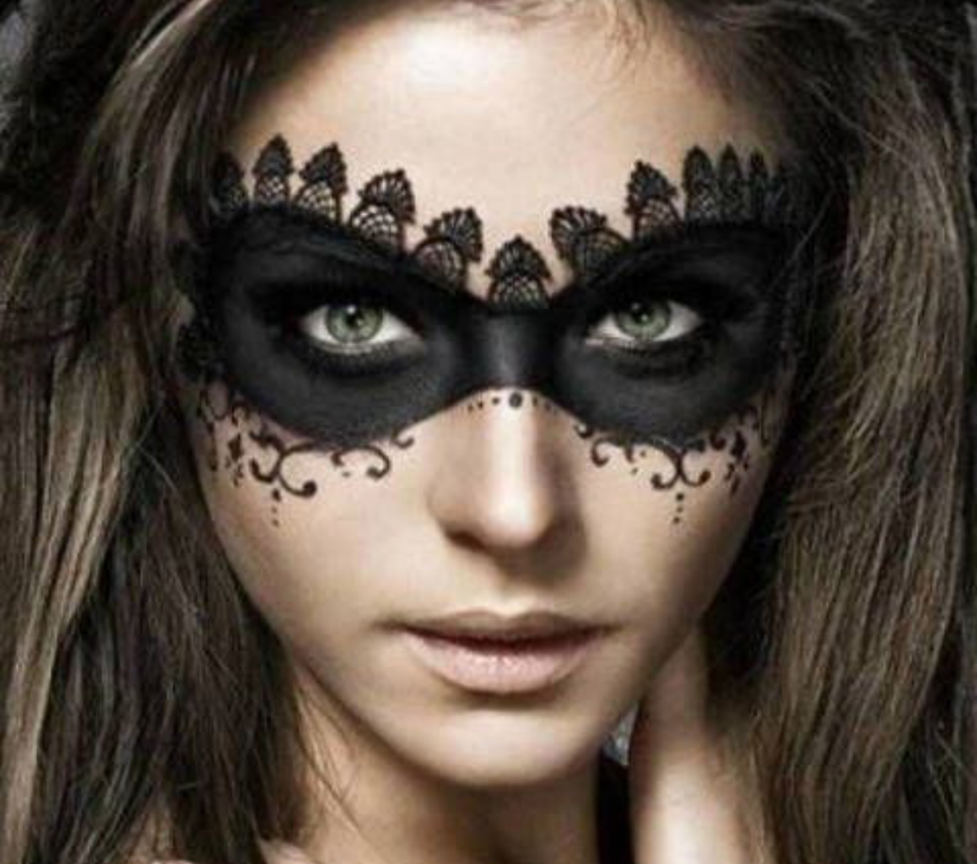 Sexy mask Halloween makeup for adults