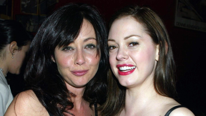 Shannen Doherty, Rose McGowan during Entertainment