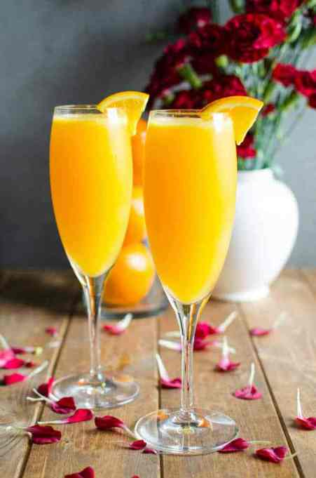 Non-Alcoholic Apple Cider Mimosa