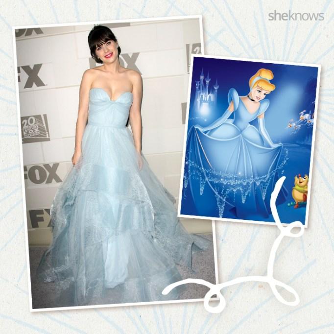 Zooey Deschanel as Disney princess Cinderella