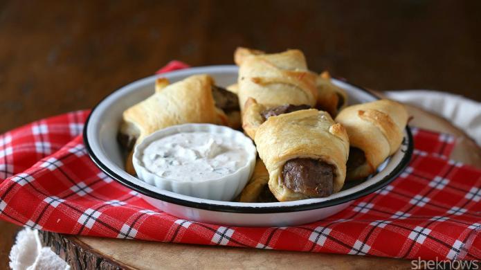Try steak-stuffed crescent rolls for fancier