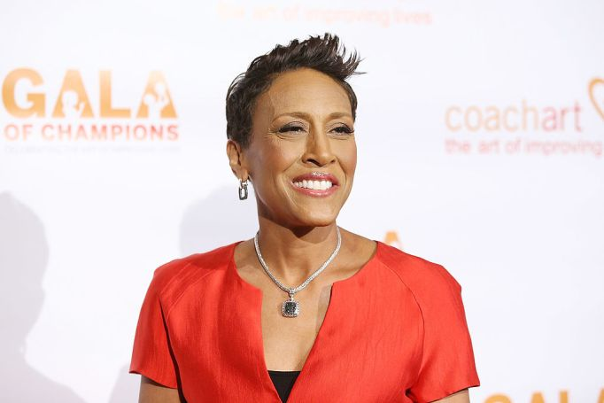 Robin Roberts in a red top
