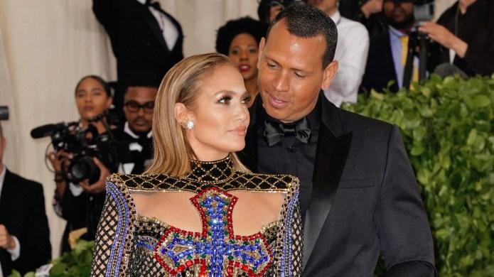 Jennifer Lopez and Alex Rodriguez attends