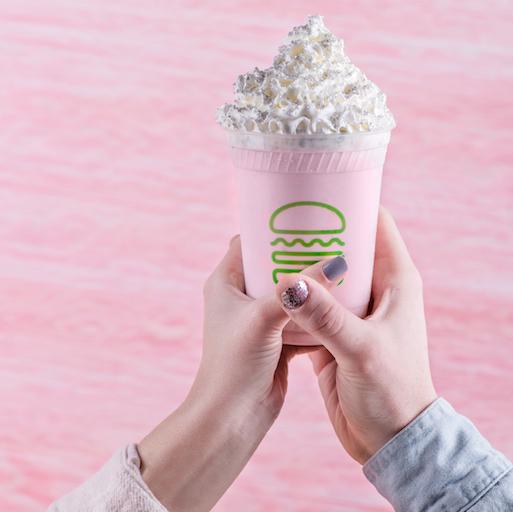 Shake Shack pink milkshake