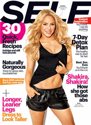 Shakira on the cover of Self