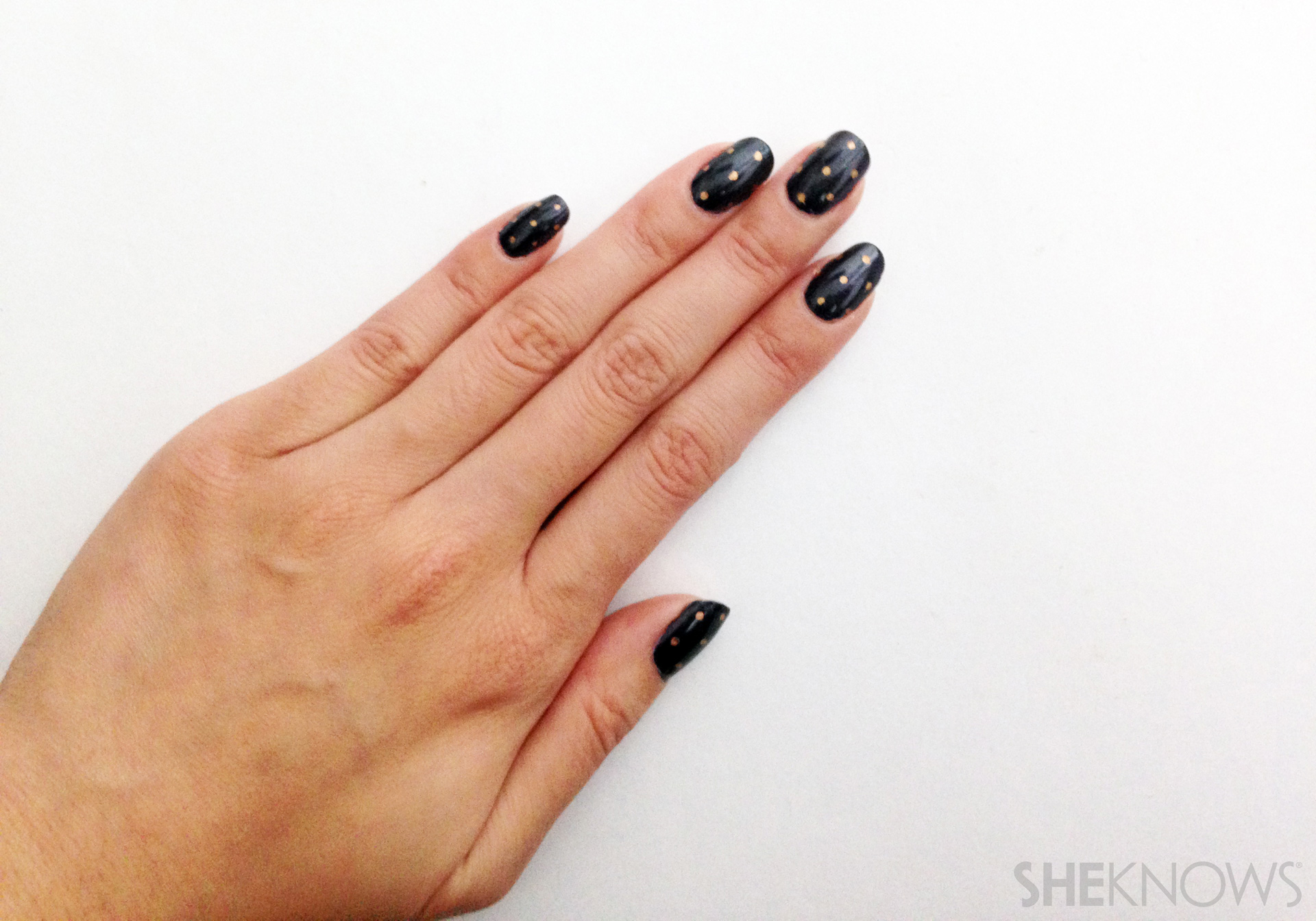Make perfect polka dots every time with a Sharpie