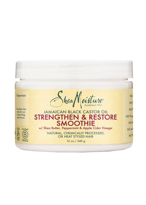 Product Pairs for Every Hair Texture: SheaMoisture Jamaican Black Castor Oil Strengthen & Restore Smoothie