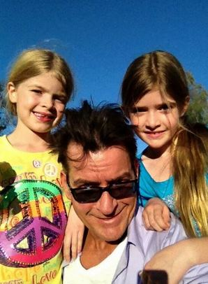 Charlie Sheen and daughters