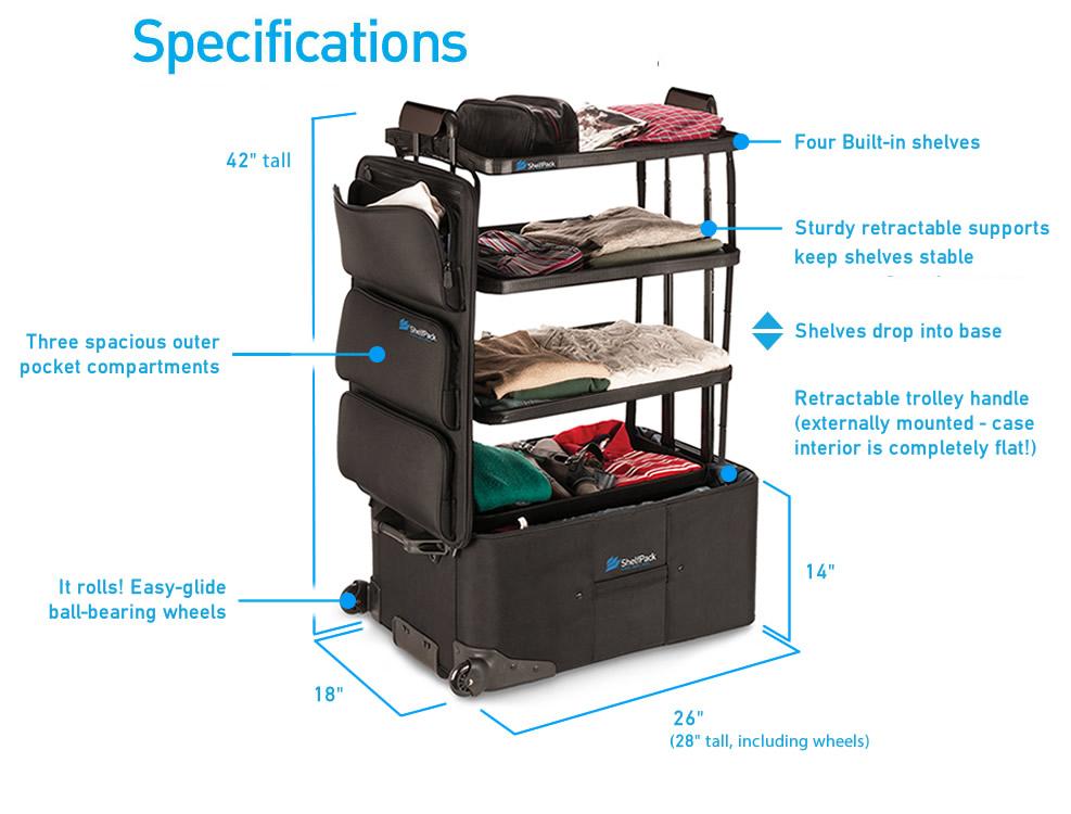 ShelfPack specifications