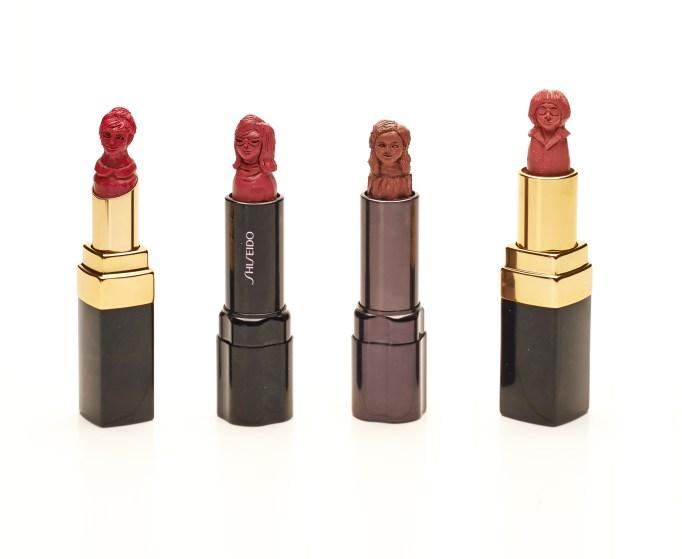May Sum lipstick art sculptures