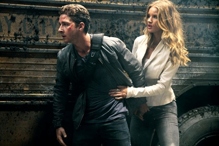 Shia LaBeouf and Rosie Huntington-Whiteley in Transformers 3