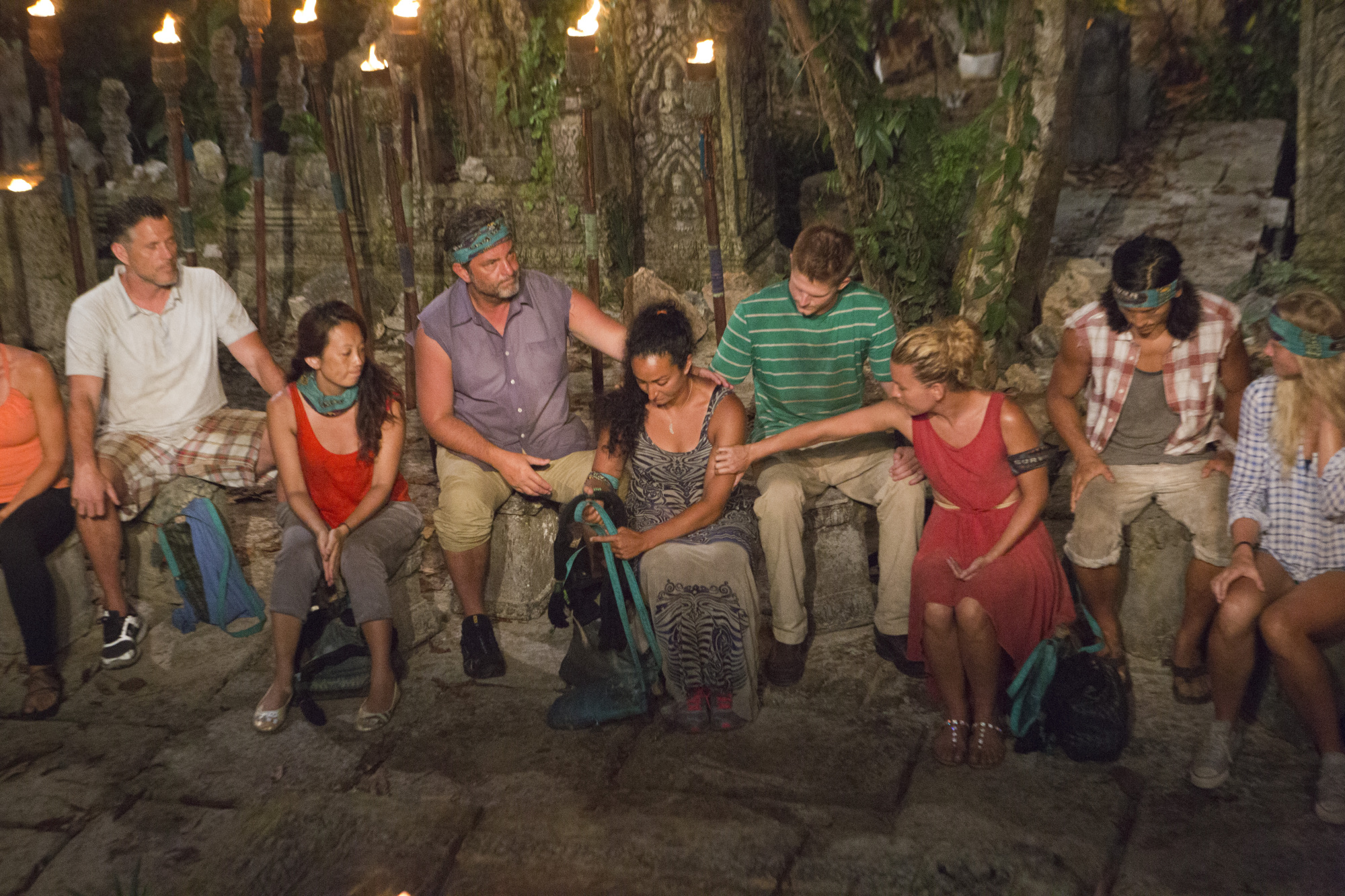 Ta Keo tribe comforts Shirin Oskooi after voting her off Survivor: Second Chance