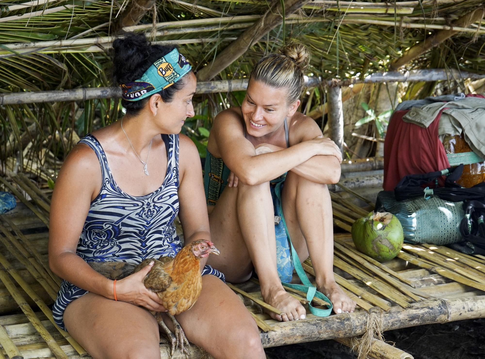 Shirin Oskooi with Abi-Maria Gomes on Survivor: Second Chance